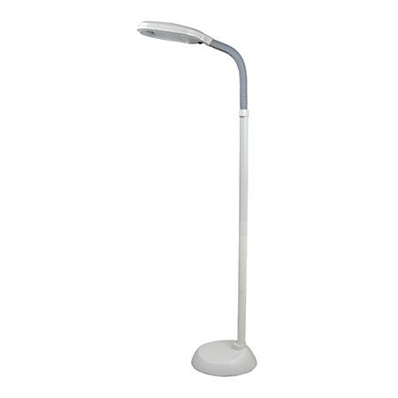 lavish home sunlight floor lamp 64 h white shadebase by office depot. Black Bedroom Furniture Sets. Home Design Ideas