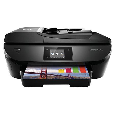 HP OfficeJet 5741 Wireless Color Inkjet All In One Printer Scanner Copier Fax by Office Depot ...