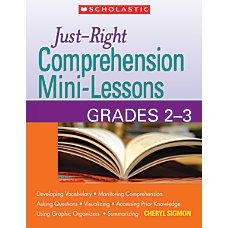 Scholastic Just Write Comprehension Mini Lessons