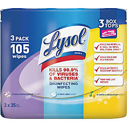 Lysol Disinfecting Wipes 3 Pack Early