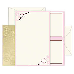 Gartner studios invitation kit ivorypink floral wedding 5 for Gartnerstudios com invitation templates