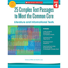 Scholastic 25 Complex Text Passages To