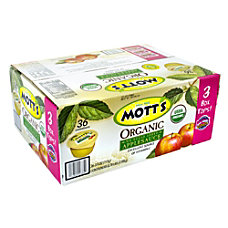 Motts Organic Applesauce Cups 39 Oz
