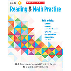Scholastic Reading Math Practice Grade 4