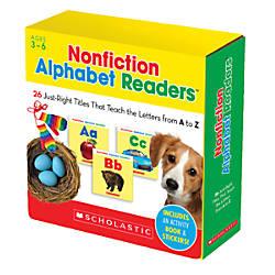 Scholastic Nonfiction Alphabet Readers Parent Pack