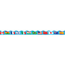 Scholastic Scalloped Trimmer Flags 2 14