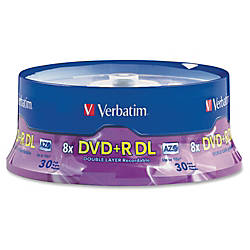 Verbatim DVDR Double Layer Disc Spindle