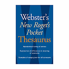 Websters New Rogets Pocket Thesaurus