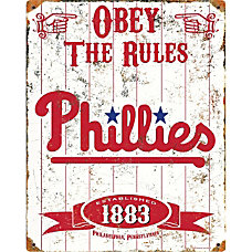 Party Animal Philadelphia Phillies Embossed Metal