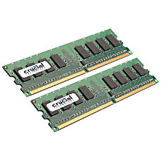 Crucial 2GB kit 1GBx2 240 pin