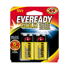 Eveready Gold Alkaline 9 Volt Batteries