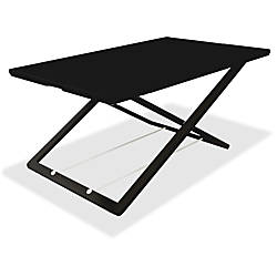 Lorell Slim Adjust Desk Riser Black