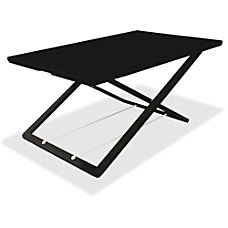 Lorell Slim Adjust Desk Riser Black