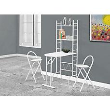 Monarch Specialties Foldaway 3 Piece Dining