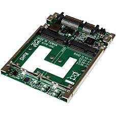 StarTechcom Dual mSATA SSD to 25