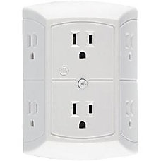 GE 6 Outlet Power Tap White