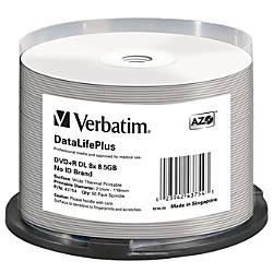 Verbatim DVDR DL 85GB 8X DataLifePlus
