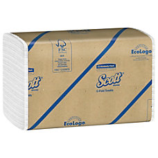 Scott 60percent Recycled C Fold Towels