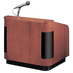 Oklahoma Sound Wood Veneer Table Top Lecterns With Sound