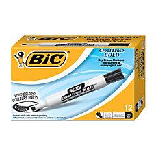 BIC Dry Erase Bold Marker Black