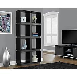 Monarch Specialties 8 Cube Bookcase BlackGray
