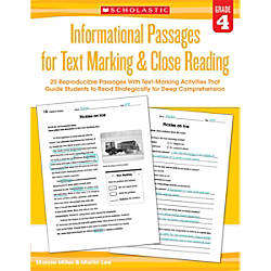 Scholastic Teacher Resources Informational Passages For