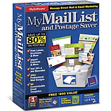 MyMailList and Postage Saver Download Version