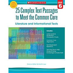 Scholastic Teacher Resources Complex Text Passages