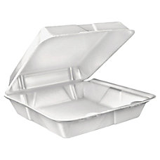 Dart Large Carryout Foam Trays 1