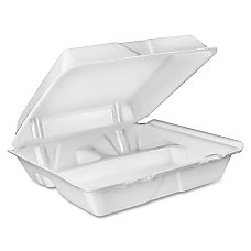 Dart Large Carryout Foam Trays 3