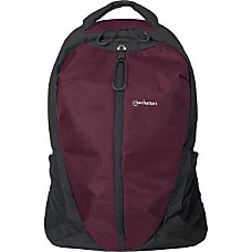Manhattan Airpack 156 Laptop Backpack PlumBlack