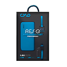 CYLO 3200mAh Rubberized Power Bank Blue