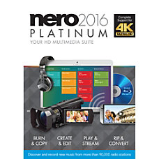 Nero 2016 Platinum Download Version