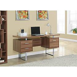 Monarch Retro Style Computer Desk Walnut