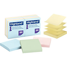 Highland Pop up Repositionable Pastel Note