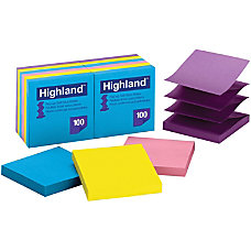 Highland Repositionable Bright Pop up Note