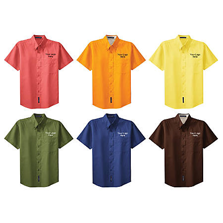 Wash And Wear Short Sleeved Shirt By Office Depot Officemax