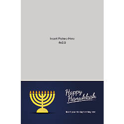 Photo Greeting Card Vertical Happy Hanukkah