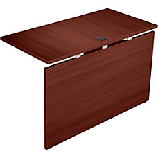 Lorell Concordia Series Mahogany Laminate Desk