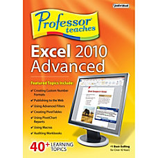 Professor Teaches Excel 2010 Advanced Download