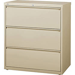 Lorell 3 Drawer Putty Lateral Files