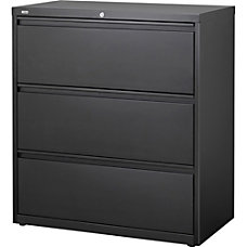 Lorell 3 Drawer Black Lateral Files