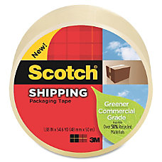 Scotch Commercial Grade Packaging Tape Adhesive