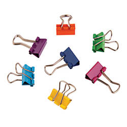 Fashion Binder Clips 12 Assorted Colors