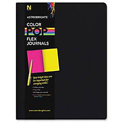 Astrobrights Flex Journals with Eclipse Black