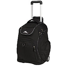 High Sierra Powerglide Wheeled Backpack Black