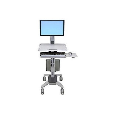 Ergotron Workfit C Sit Stand Workstation Gray By Office