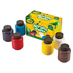 Crayola 6 color Acrylic Paint Set