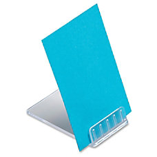 deflecto Angled Display Sign Holder Plastic