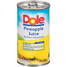 Dole Pineapple Juice 6 Oz